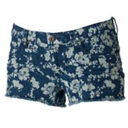 Mudd Floral Fray Shortie Shorts - Juniors