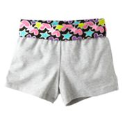 Jumping Beans Star and Heart Fold-Over Yoga Shorts - Girls 4-7