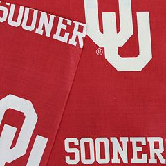 Oklahoma Sooners Printed Sheet Set - Queen