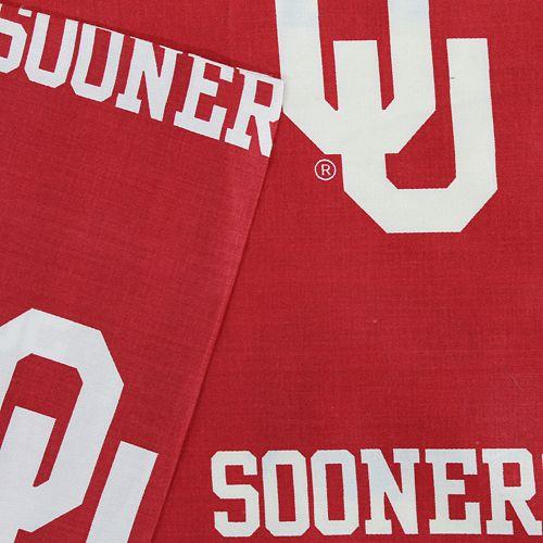 Oklahoma Sooners Printed Sheet Set - Queen