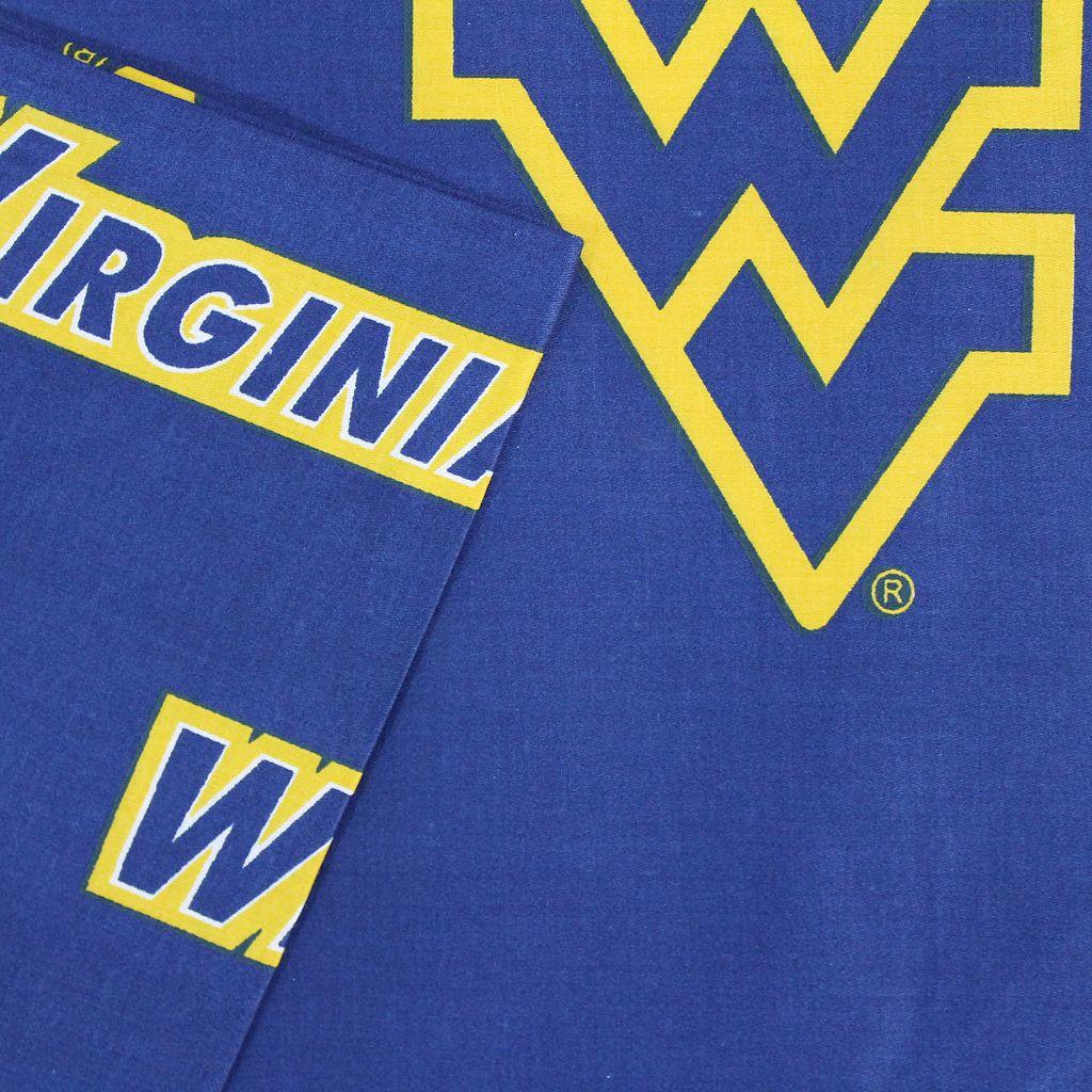 West Virginia Mountaineers Printed Sheet Set - Twin