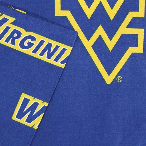 West Virginia Mountaineers Printed Sheet Set - Queen