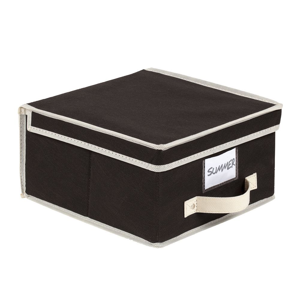 Kennedy Home Collection Cream & Black Medium Storage Box
