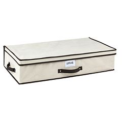 Kennedy Home Collection Black Cream Under-Bed Storage Box