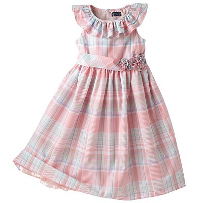 Chaps Plaid Taffeta Dress - Girls 7-16