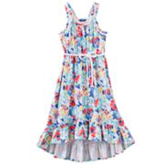 Chaps Floral Belted Maxi Dress - Girls 7-16