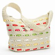 Croft and Barrow Ribbon Woven Hobo