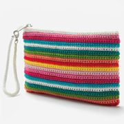 Croft and Barrow Sedona Striped Wristlet
