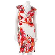 Ronni Nicole Floral Ruched Dress