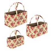 Laura Ashley Milner 3-pc. Nesting Storage Tote Set