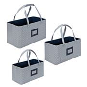 Laura Ashley Marise 3-pc. Nesting Storage Tote Set