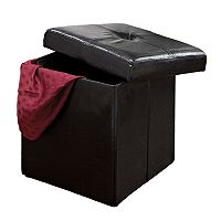 Kennedy Home Collection Folding Storage Ottoman