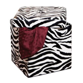 Kennedy Home Collection Zebra Folding Storage Ottoman