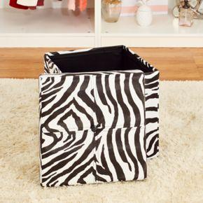 Kennedy Home Collection Zebra Folding Storage Ottoman