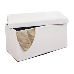"""Kennedy Home Collection 16"""" x 30"""" Folding Storage Ottoman"""