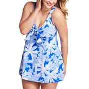 Upstream Palm Tree Swimdress - Women's Plus
