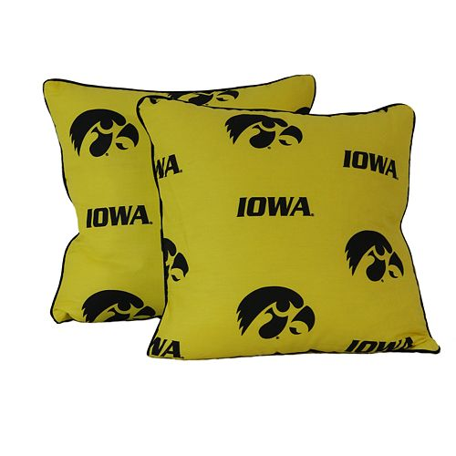Iowa Hawkeyes Decorative Pillow Set