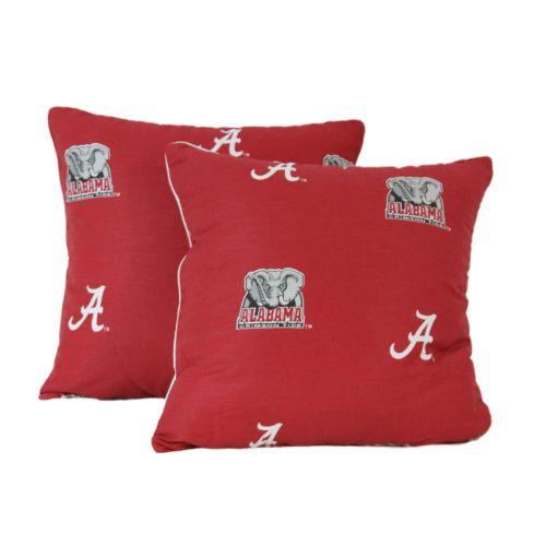 Alabama Crimson Tide Decorative Pillow Set