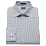 Arrow Classic-Fit Checked Poplin Easy-Care Spread-Collar Dress Shirt