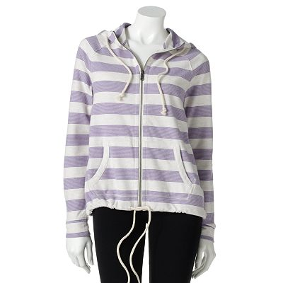 SONOMA life + style Striped French Terry Hoodie - Petite