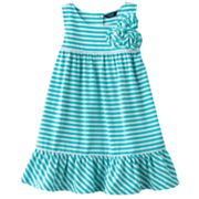 Chaps Striped Floral Sundress - Toddler