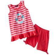Chaps Striped Top and Shorts Set - Toddler
