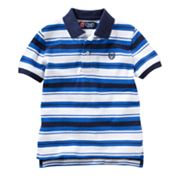 Chaps Striped Pique Polo - Toddler