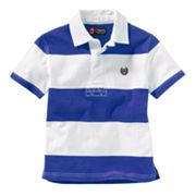 Chaps Rugby-Striped Polo - Toddler