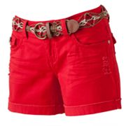 Wallflower Cuffed Midi Shorts - Juniors