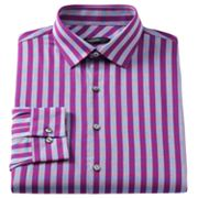 Van Heusen Studio Slim-Fit Striped Spread-Collar Dress Shirt