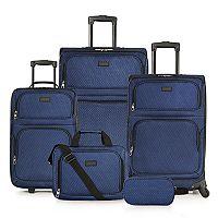 Deals on Chaps Alvaston 5-Piece Luggage Set + Free $20 Kohls Cash