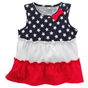 Jumping Beans Stars and Stripes Babydoll Top - Baby