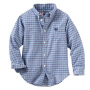 Chaps Tattersall-Plaid Button-Down Shirt - Toddler