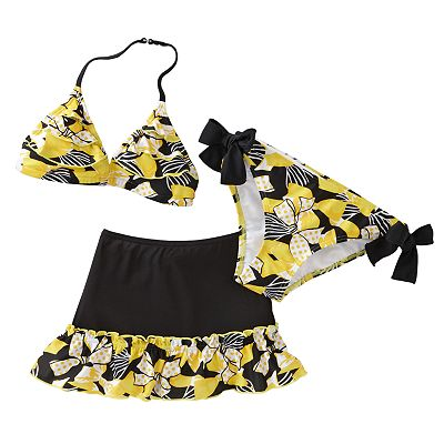 Candie's Bow Ruffle 3-pc. Bikini Swimsuit Set - Girls 7-16
