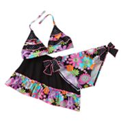 Candie's Floral Ruffle 3-pc. Bikini Swimsuit Set - Girls 7-16