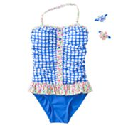 Candie's Polka-Dot One-Piece Swimsuit - Girls 7-16