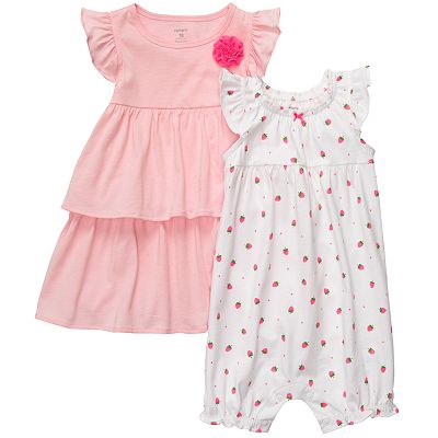 Carter's Tiered Dress and Strawberry Romper Set - Baby