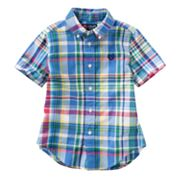 Chaps Plaid Woven Button-Down Shirt - Toddler