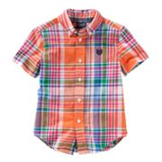 Chaps Madras Plaid Woven Button-Down Shirt - Toddler