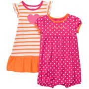 Carter's Striped Dress and Dotted Romper Set - Baby
