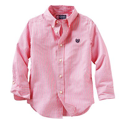 Chaps Yarn-Dyed Striped Woven Button-Down Shirt - Toddler