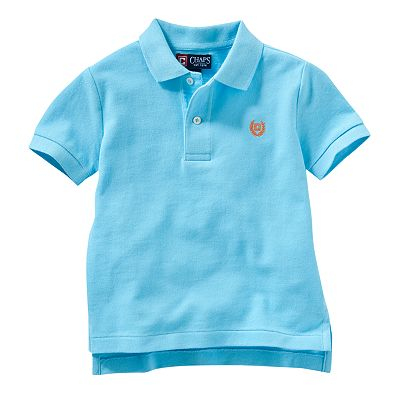 Chaps Solid Polo - Toddler