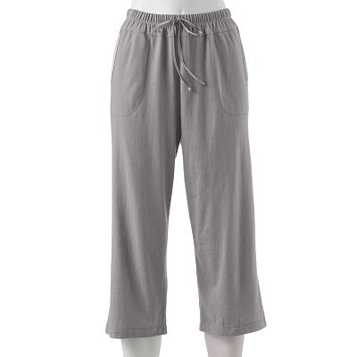 Croft and Barrow Action Packed Satin-Trim Pajama Capris