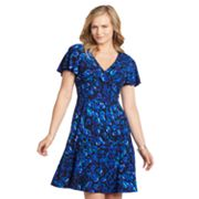 Chaps Floral Gored Empire Dress - Women's Plus