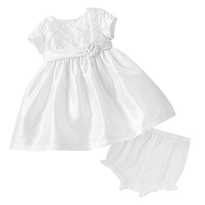 Marmellata Classics Diamond Pintuck Dress - Baby