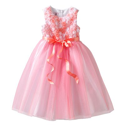 Marmellata Classics Glitter Tulle Rosette Dress - Toddler