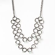 Simply Vera Vera Wang Jet Long Swag Necklace