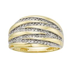 10k Gold 1/2 ctT.W. Round-Cut Diamond Ring