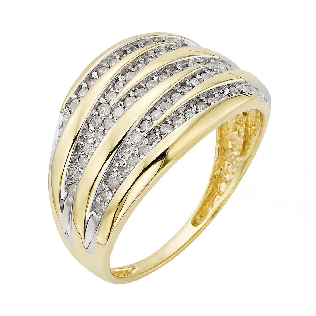 10k Gold 1/2-ct. T.W. Round-Cut Diamond Ring