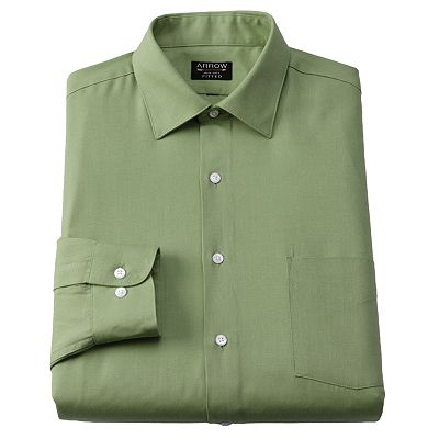 Arrow Fitted Solid Spread-Collar Dress Shirt